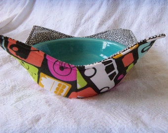 NeW dEsiGn Planes, Trains, & Automobiles Microwav-a-bowl Black, Green and Pink Modes of Transportation- MADE TO ORDER