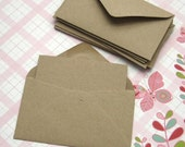 RESERVED 30 Mini Kraft Envelopes with Note Cards 2 1/2 x 4 1/4 inches
