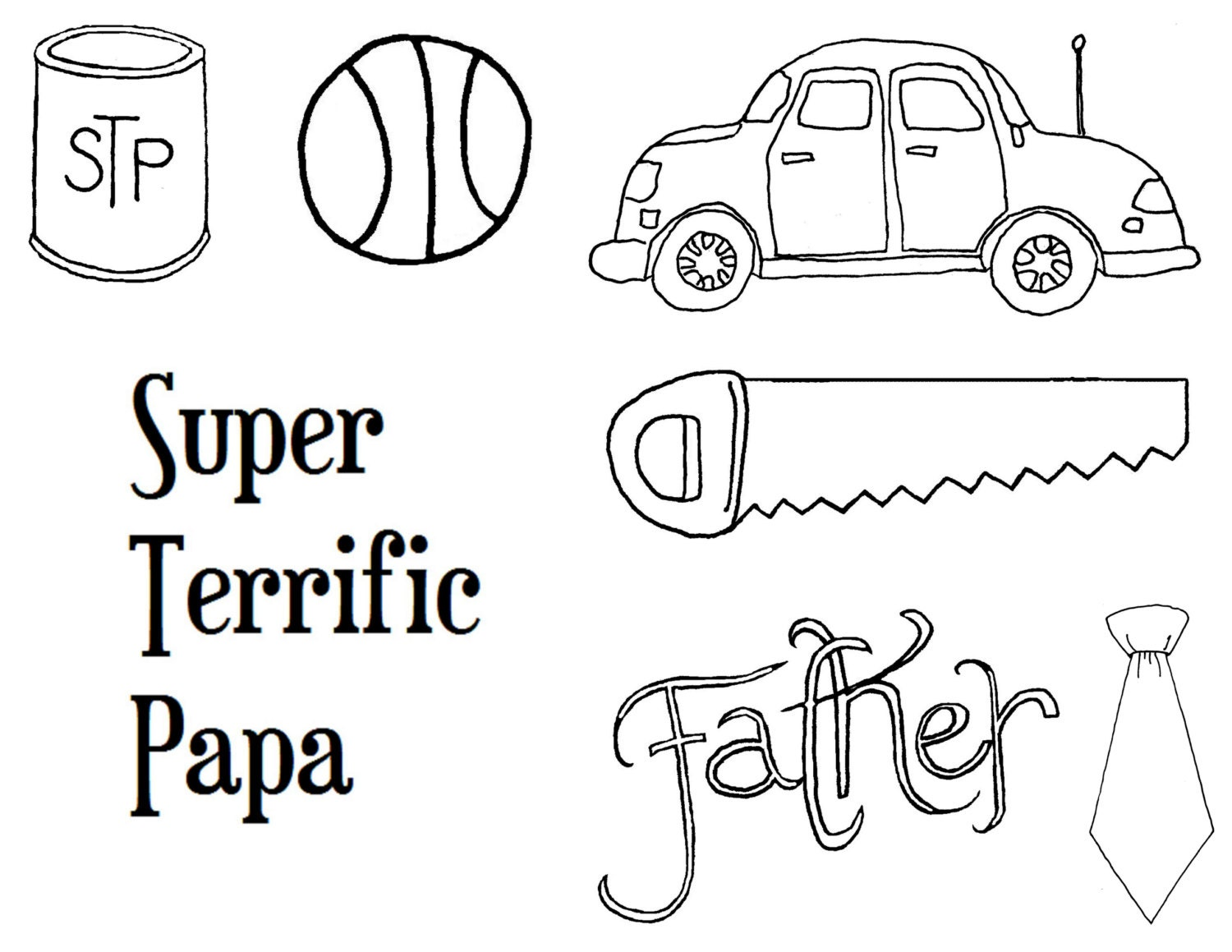 father u0027s day coloring page card images black and white clip art