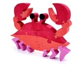 Crab Decor, Kids Toy and Wood Puzzle