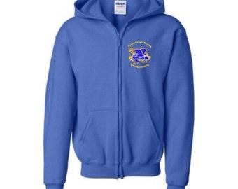FishHawk Creek Elementary Uniform Youth Heavy Blend Full-Zip Hooded Sweatshirt 3 Colors to Choose From