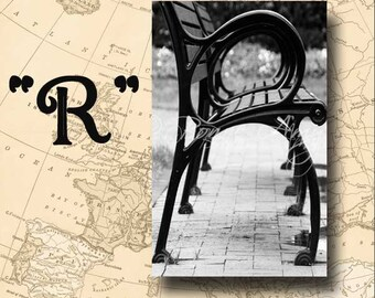 Letter R Alphabet Photography Black and White or Sepia 4 x 6 Photo Letter Unframed