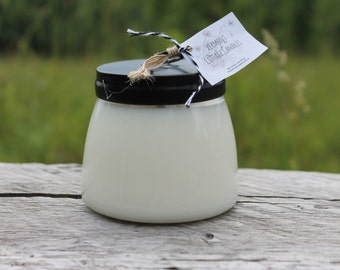 Summer Scents-Handpoured 12oz Pure Soy Candle Jar with Black Metal Lid-Summer-Vermont Cottage Candles
