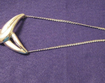 Vintage Stelring Silver Art Deco Necklace