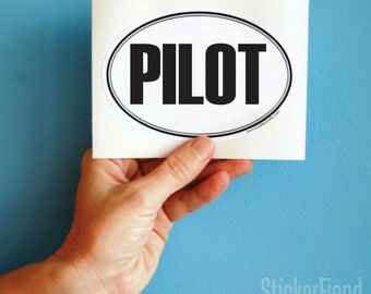 pilot oval bumper sticker