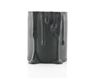 Modern Ceramic Candle Holder - Black Candle Holder