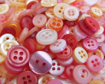 Rose Garden Buttons, 50 Small Assorted Round Sewing Crafting Bulk Buttons