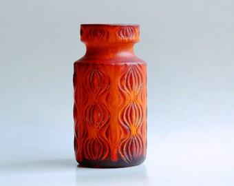 West German Matte Red 'Onion' Vase - Scheurich