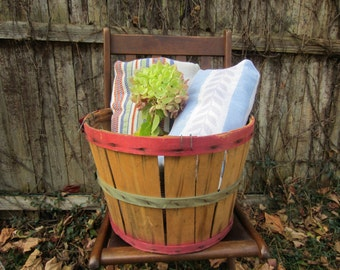 A Rare Jersey Package Co Bushel Basket #2  Farmhouse / Country Living / Fruit Picking / Gift Basket
