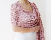 CROCHET PATTERN woman scarf Long lace wrap women shawl stole wedding summer  DIY photo tutorial Instant download