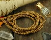 5mm Sandalwood Beads, 108 Aromatic Natural Authentic Indian Sandalwood Beads, Natural Fragrant Brown Wood, Yoga Mala, Jewelry Making Supply
