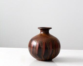 mid century modern vase, 60s bud vase
