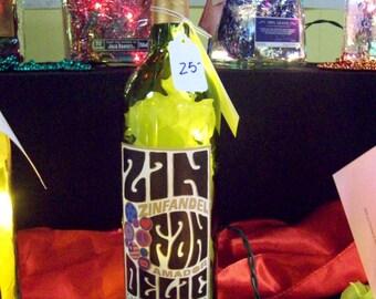 Zin Fan Delic - White Zinfandel Wine Bottle Bar/Table/Accent Lamp