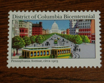 USA Mint Stamps, Missing Color Error, Scott 2561a, District of Columbia  Centennial