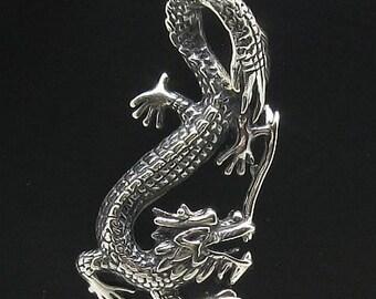 PE000630  Sterling silver pendant  solid 925  Dragon