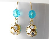 free shipping summer blue earrings