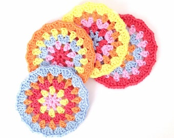 Crochet Coasters Pattern - Instant Download