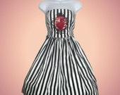 Striped Heart Punk Dress