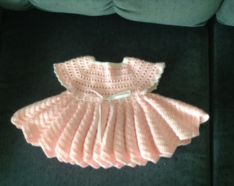 Crocheted dress for a baby girl