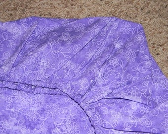 Purple Flower Crib/Toddler Bed Fitted Sheet