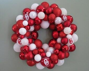 OKLAHOMA SOONERS TEAM Ornament Wreath