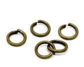 5mm Jump Rings : 100 Antique Brass Open Jump Rings 5mm x .7mm (21 Gauge) | 5mm Bronze Jump Rings -- Lead, Nickel, & Cadmium free 5/.7-1