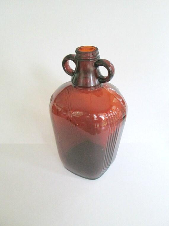 items similar to art deco amber brown glass jug owens. Black Bedroom Furniture Sets. Home Design Ideas