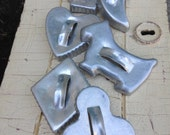Vintage Lot of 6 Tin Cookie Cutters
