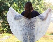 Ivory-Off white  wraps shawl, knit white shawl Wedding wraps shawl , Evening Off White shawl, Off white lace shawl,