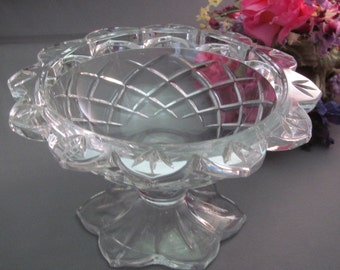 Gorham Lead Crystal Pedestal Dish Compote Bowl Candy Dish