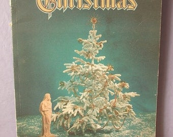 Vintage 1950's Christmas annual book, volume 29, 1959, Mid Century Christmas art book, literature, illustrations, Catholic gift
