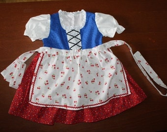 Red and Blue Baby Dirndl