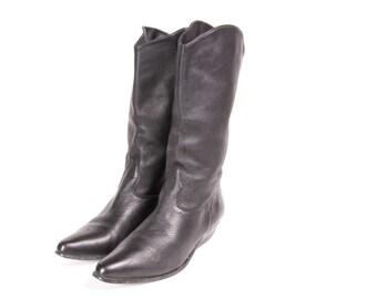 Short Black Western Style Boot Women's Size 9