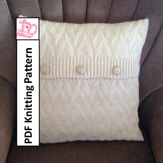 Free Knitted Pillow Patterns : Knit pillow cover pattern PDF KNITTING PATTERN knitted