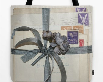 Old Love Letters Tote bag, 18""