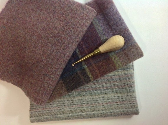 Wool for Rug Hooking and Applique, Dusty Purple and Gray, J797