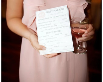 200 Wedding Printed Mad Libs a fun Guest Book Alternative