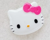 1pc - LL Hot Pink Bow Kitty Decoden Cabochon (40x48mm) HK10010