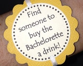 Yellow Bachelorette Party Game Bracelets -  set of 12 - Customizable for Birthdays
