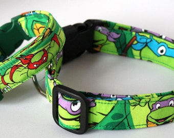 Ninja Turtle Dog Collar Size XS, S, M & L