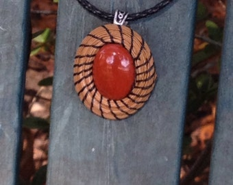 Small Pine Needle Pendant Necklace