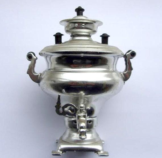 Russian Soviet Gift Small Souvenir Yasnaya Polyana Mini Samovar Teapot TEA