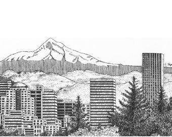 Portland/Mt. Hood - Note Card Package