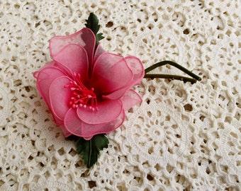 Vintage Millinery Flower, Pink Blossom