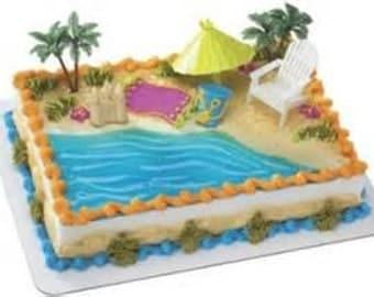 Beach Cake Kit/ Cake Topper / Set / Decoration