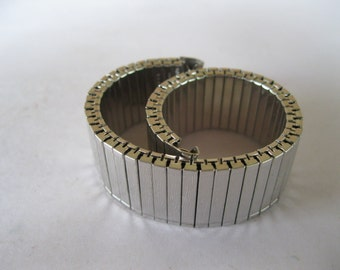 Rolled Gold Plate Watch Band Stainless Steel Expansion Stretch