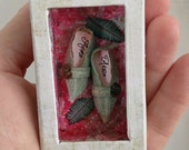 Peregrin's Tiny Fairy Shoes in soft green OOAK