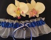 Toronto Maple Leafs Wedding Garter - Plus Size Available ~ Something Blue Garter