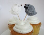 Bride & Groom - Traditional Couple - Cupcake Pics - 1 Couple - MADE TO ORDER