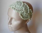 HeadBand- Crochet Headband-   Hair Fashion Accessories - Crochet HairBand in Mint Green